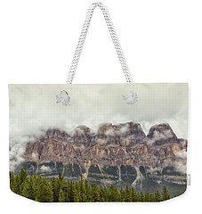 Cloudy Castle Mt Weekender Tote Bag