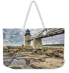 Weekender Tote Bag featuring the photograph Cloudy Day At Marshall Point by Rick Berk