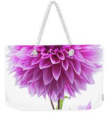 Cloudy Day Dahlia Weekender Tote Bag by Mark Alder
