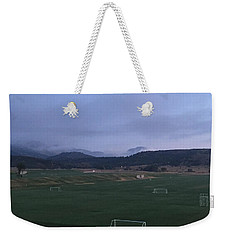 Cloudy Morning At The Field Weekender Tote Bag
