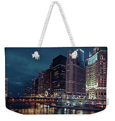 Cloudy Night Chicago Weekender Tote Bag