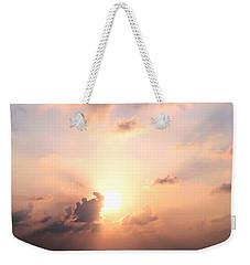 Cloudy Pink Sky Weekender Tote Bag