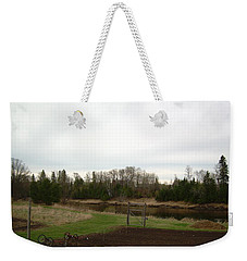 Weekender Tote Bag featuring the photograph Cloudy Spring Dawn After Rain by Kent Lorentzen