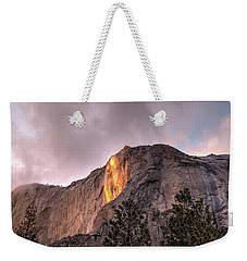 Cloudy Sunset Horsetail Falls Weekender Tote Bag