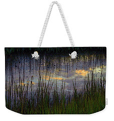 Weekender Tote Bag featuring the photograph Cloudy Tide Pool by Laura Ragland
