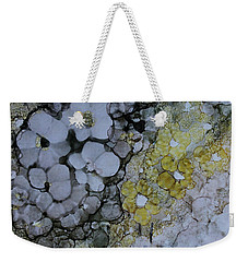 Weekender Tote Bag featuring the painting Cloudy With A Chance Of Sunshine by Joanne Smoley