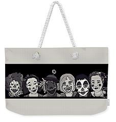 Clown Alley Black Lavender Weekender Tote Bag by Megan Dirsa-DuBois