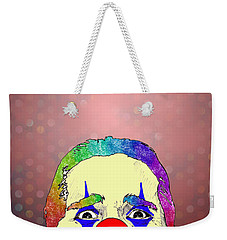 Weekender Tote Bag featuring the drawing clown Christian Bale by Jason Tricktop Matthews