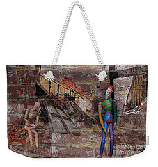 Weekender Tote Bag featuring the photograph Clown Manikin Has A Bad Day by Nareeta Martin