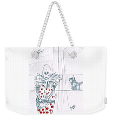 Clown With Crystal Ball And Mermaid Weekender Tote Bag by Dan Twyman