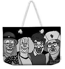 Clowns Bw Weekender Tote Bag