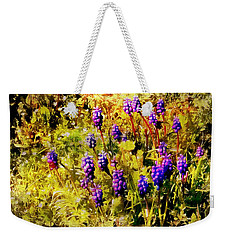 Clump Of Blue Grape Hyacinth Weekender Tote Bag