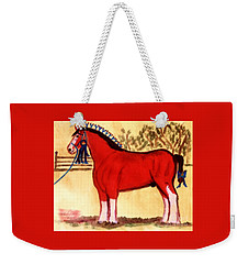 Clydesdale Horse Blue Ribbon Stallion Weekender Tote Bag