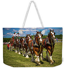 Weekender Tote Bag featuring the photograph Clydesdale Horses by Robert L Jackson