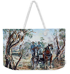 Clydesdales And Cart Weekender Tote Bag