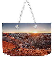 Coal Mine Canyon Sunrise Weekender Tote Bag by David Cote