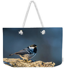 Weekender Tote Bag featuring the photograph Coal Tit's Colors by Torbjorn Swenelius