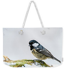 Weekender Tote Bag featuring the photograph Coal Tit's Profile by Torbjorn Swenelius