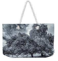 Coast Live Oak Monochrome Weekender Tote Bag