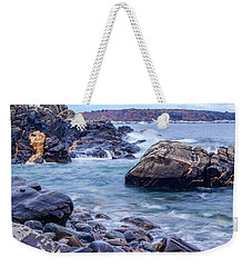 Weekender Tote Bag featuring the photograph Coast Of Maine In Autumn by Doug Camara