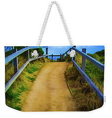 Weekender Tote Bag featuring the photograph Coast Path by Perry Webster