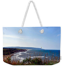 Weekender Tote Bag featuring the photograph Coastal Cape Breton  by Elaine Manley