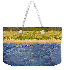 Weekender Tote Bag featuring the painting Coastal Dunes - Square by Michelle Calkins