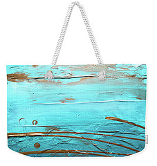 Coastal Escape I Textured Abstract Weekender Tote Bag