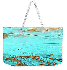 Coastal Escape II Textured Abstract Weekender Tote Bag