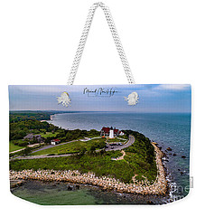 Coastal Nobska Point Lighthouse Weekender Tote Bag