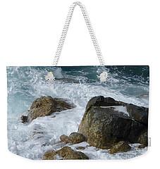Coastal Rocks Trap Water Weekender Tote Bag by Margaret Brooks