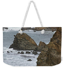 Coastal Storm Weekender Tote Bag by Laddie Halupa