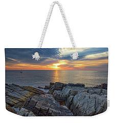 Coastal Sunrise On The Cliffs Weekender Tote Bag