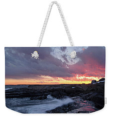 Coastal Sunset Cape Neddick - York Maine  -21056 Weekender Tote Bag
