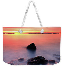 Weekender Tote Bag featuring the photograph Coastal Sunset Kintyre by Grant Glendinning