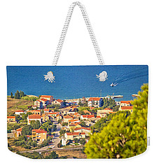Coastal Village On Island Of Pasman Weekender Tote Bag by Brch Photography
