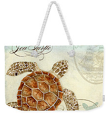 Coastal Waterways - Green Sea Turtle 2 Weekender Tote Bag