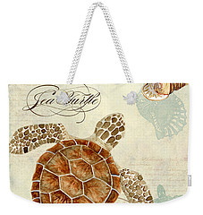 Coastal Waterways - Green Sea Turtle Rectangle 2 Weekender Tote Bag