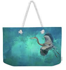 Coasting Blue Heron Bird Art Weekender Tote Bag