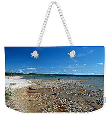 Coastline Of Lake Michigan  Near Petoskey State Park - Little Traverse Bay Weekender Tote Bag