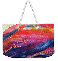 Weekender Tote Bag featuring the painting Coatings And Deposits Of Color by Kathy Braud