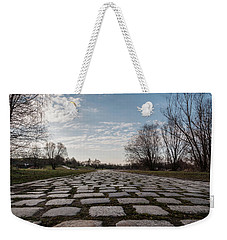 Weekender Tote Bag featuring the photograph Cobble-stones by Sergey Simanovsky