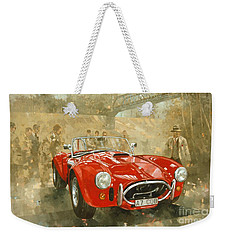 Cobra At Brooklands Weekender Tote Bag by Peter Miller