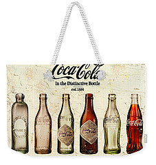 Coca-cola Bottle Evolution Vintage Sign Weekender Tote Bag