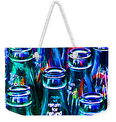 Coca-cola Coke Bottles - Return For Refund - Painterly - Blue Weekender Tote Bag