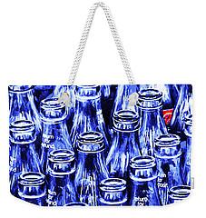 Coca-cola Coke Bottles - Return For Refund - Square - Painterly - Blue Weekender Tote Bag