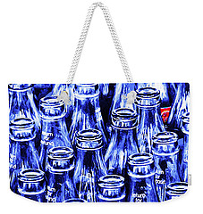 Coca-cola Coke Bottles - Return For Refund - Square - Painterly - Blue Weekender Tote Bag