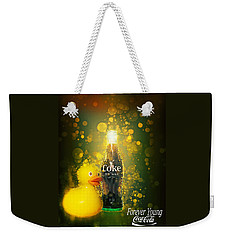 Weekender Tote Bag featuring the photograph Coca-cola Forever Young 5 by James Sage