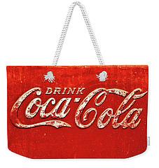 Coca Cola Rustic Weekender Tote Bag