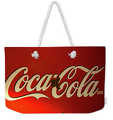 Weekender Tote Bag featuring the photograph Coca-cola Sign  by Toni Hopper